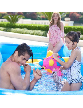 ODOMY 3-Layer Large Family Swimming Pool Outdoor Garden Summer Inflatable Kids Paddling Pools