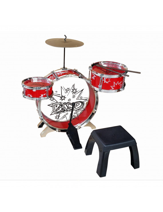 Kiddy Jazz Drum Set with Stool