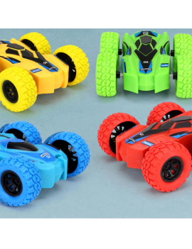 360 Degree Rotation Toy Cars for Kids Push Cars for Toddlers Double Side Baby Car 2 Pack