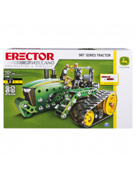 Erector by Meccano, John Deere 9RT Series Tractor Building Set, STEM Engineering Education Toy for Ages 10 and up