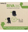 Safety 1st RIVA Ultra Lightweight Travel System Stroller with onBoard35 FLX infant Car Seat, Black Tie