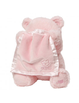 "Baby My First Teddy Bear Peek A Boo Animated Stuffed Animal Plush, Pink, 11.5"", Pink Peek-A-Boo animated teddy bear By GUND"