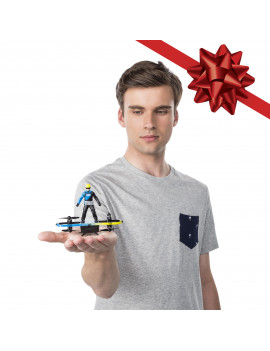 Air Hogs 2-in-1 Extreme Air Board, Transforms from RC Stunt Board to Paraglider, For Ages 8 and Up