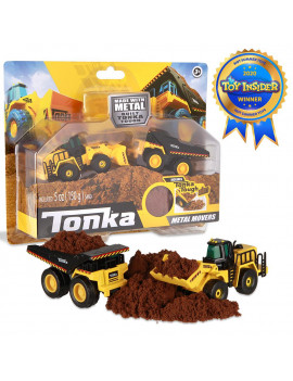 Tonka - Metal Movers Combo Pack - Mighty Dump Truck 2 and Front Loader
