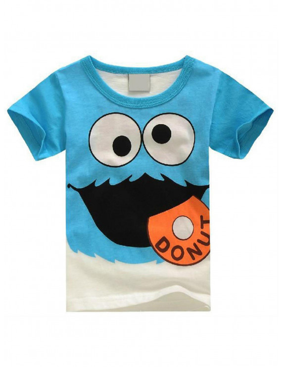 Kid's Boys Baby Short Sleeve T Shirts Cotton Cartoon Basic Tee Cute Tops