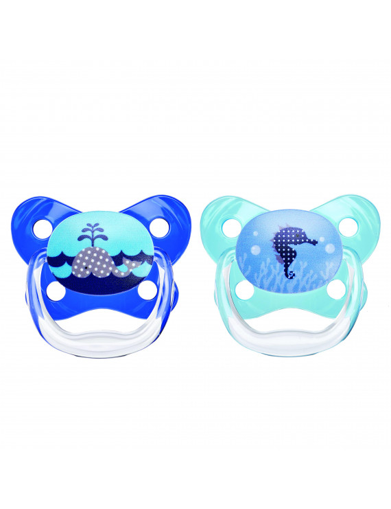 Dr. Brown's PreVent Orthodontic Butterfly Pacifier, 0-6 Months - 2 Counts