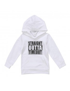 0-5T Unisex Toddler Baby Boy Girl Letter Print Hoodie Sweater Casual Tops with Pocket Outfits