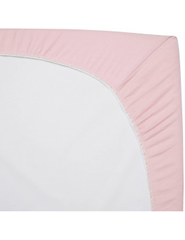 American Baby Co. Cotton Jersey Knit Fitted Cradle Sheet, Pink 2pk