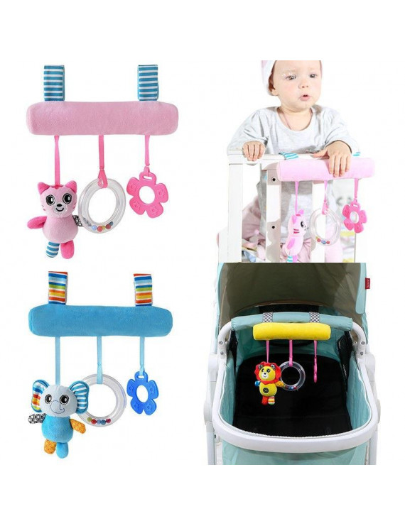 Baby Infant Rattles Plush Animal Stroller Sound Hanging Bell Toy Doll Soft Bed