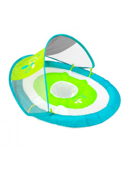 """36"""" Aqua Blue and Green Swimming Pool Baby Spring Float with Sun Canopy"""