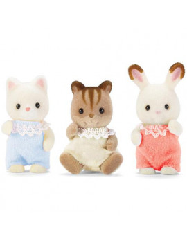 Calico Critters Baby Friends, 3 Baby Figures
