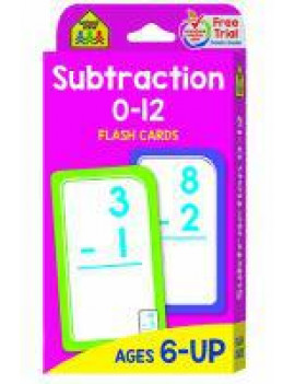 Flash Card: Subtraction 0-12 Flash Cards (Other)