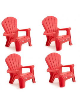 Little Tikes Garden Chair Red 4 Pack