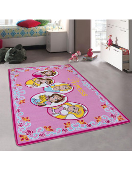 """AllStar Pink Rug Kids / Baby Room Area Rug. Princess Bright Colorful Vibrant Pink Colors (3' 3"""" x 4' 10"""")"""
