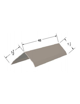 (5 Pack) 1.5x1.5x48 Stainless Steel Outside Corner Guard , 20ga, with Breaks, Wall Edge Trim