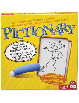 Pictionary Quick-Draw Guessing Game for Family, Kids, Teens and Adults, 8 Year Old & Up