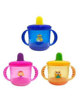 Baby Spout Sippy Cup With Handle Transition Trainer Cup For nfant Toddlers Child Kids BPA Free Random Color