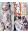 2PCS Newborn Baby Cotton Zipper Swaddle Blanket Wrap Sleeping Bag Sleepsacks 0-6M