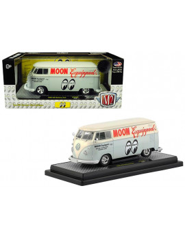 """1960 Volkswagen Delivery Van """"Moon Equipped"""" Light Blue with White Top Ltd Ed 5880 pcs 1/24 Diecast Model by M2 Machines"""