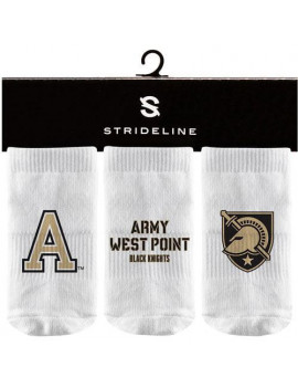Army Black Knights Strideline Newborn & Infant Three-Pack Booties - White