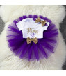 Multitrust Baby Girl Birthday Dress Rompers Skirt Headband Outfit Clothes Set