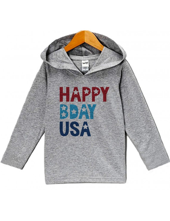 Custom Party Shop Kid's Happy Bday USA 4th of July Hoodie Pullover - 2T