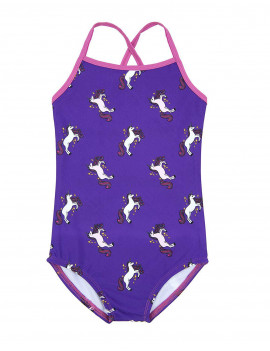 Leveret Kids Baby Boys Girls One Piece Swimsuit UPF 50+ Unicorn Size 6 Years