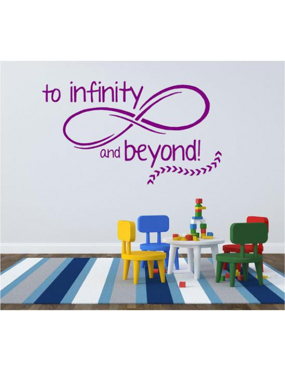 "Toy Story Vinyl Wall Decal - ""To Infinity and Beyond!"" Movie Quote - 20""x12"""