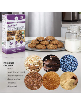Lactation Cookie Mix | USDA Organic & KOSHER Certified for Breastmilk Supply Increase