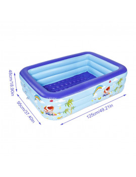 Akoyovwerve Inflatable Swimming Pool Thick Safe Inflatable Pool Summer Water Party Supply For Baby Kids Adult