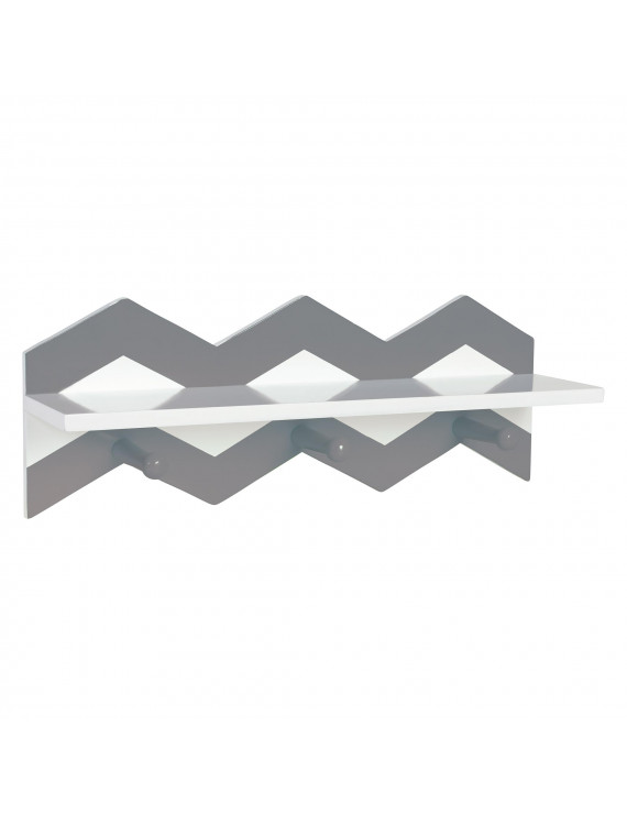Gray Chevron Wall Shelf