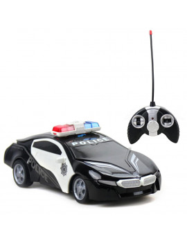 27MHZ 1:18 RC Car Police Cruiser 4-channel hit open doors Remote Control Car Educational Toy Vehicle 3xAA Batteries BACK