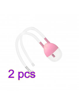 2PCS Infant Nose Cleaner New Born Baby Safety Nose Cleaner Vacuum Suction Nasal Aspirator Flu Protection Accessories