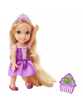 "Disney Princess 6"" Petite Rapunzel Doll with Glittered Hard Bodice and includes comb"