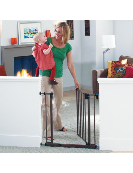 "Toddleroo by North States 38.5"" Deluxe Wide Easy-Close Baby Gate"