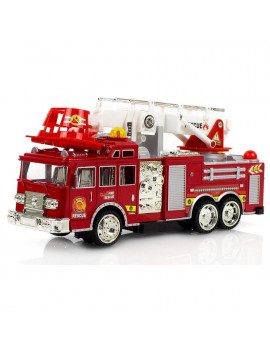 Fire Engine Truck Kids Toyl Kids Toy Extending Ladder & Lights & Siren Sounds Vocal Phrases Bump & Go Action