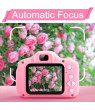 Kids Camera, Kids Digital Video Camera, 1080P FHD Kids Shockproof Video Camcorder with 2 Inch IPS Screen, Choice for Kids 3-10 Years Old Boys and Girls,Pink and Blue