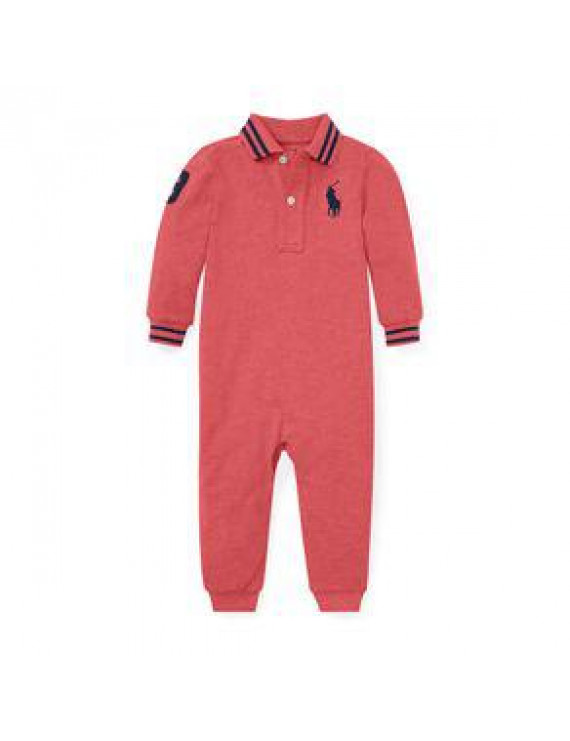 Polo Ralph Lauren - Cotton Mesh Polo Coverall, Red Slate Heather