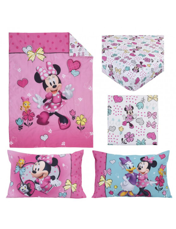 4pc Minnie Mouse Toddler Bedding Set