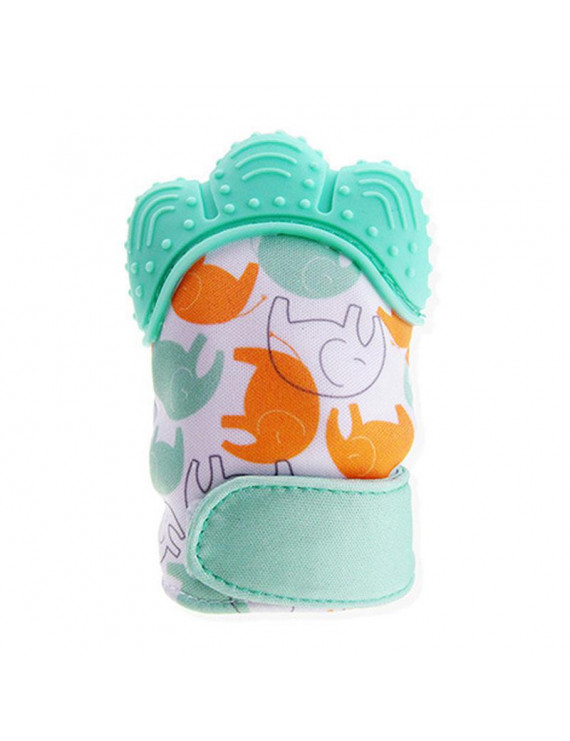 Baby Teether Mitts Food-Grade Silicone Teething Baby Gloves Massage Gums Sounded