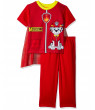 Paw Patrol Little Boys' Two-Piece Caped Pajama Pant Set (4T), Red, Size 4T