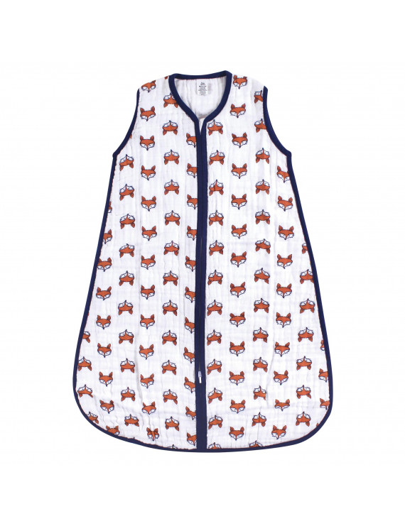 Yoga Sprout Baby Boy and Girl Muslin Sleeping Bag, Clever Fox, 0-6 Months