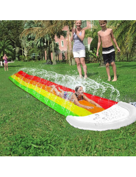 169 inch Surf Water Slide Mat for Children Summer Pool Games Toys Lawn Backyard Outdoor Water Spray Skater