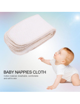 10Pcs/lot Breathable Cotton Baby Nappies Newborn Reusable Washable Insert Diaper Cloth, Cloth Diaper, Insert Cloth Diapers