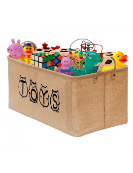 """20"""" Large Toy Chest Basket, Gimars Well-Standing Toy Box Storage Organizer Collapsible Toy bin Trunk for Kids, Girls, Boys, Children, Baby, Toddler, Playroom, Kids Room, Nursery, Kids Toy, Dog Toy"""