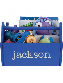 Personalized Blue Toy Caddy