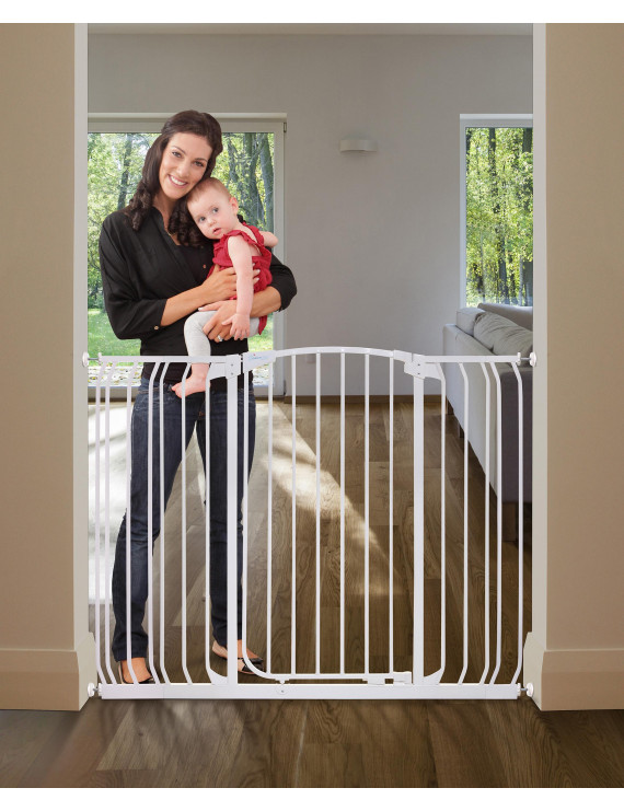 "Dreambaby Chelsea Extra Tall Auto-Close Metal 38""-53"" Baby Gate"