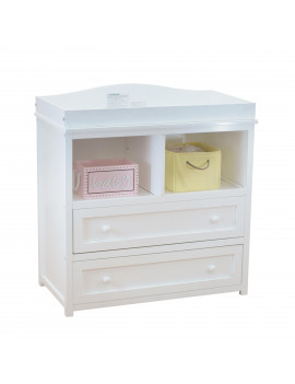 Athena Leila 2-Drawer Changer Dresser, White