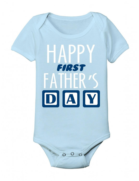 Happy First Father's Day - Baby One Piece