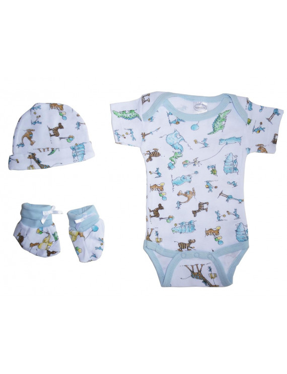Bambini Baby Shower Layette Gift Set, 3pc (Baby Boys)